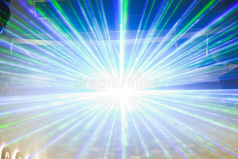 Exposition de lumière de disco, lumières d'étape illustration stock