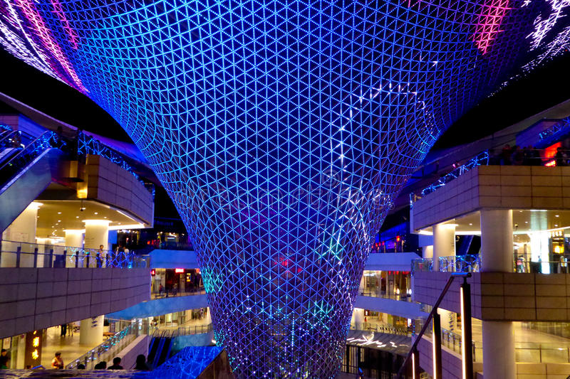 Exposition de lumière de Sunbeam d'axe d'expo du monde de Changhaï photographie stock libre de droits