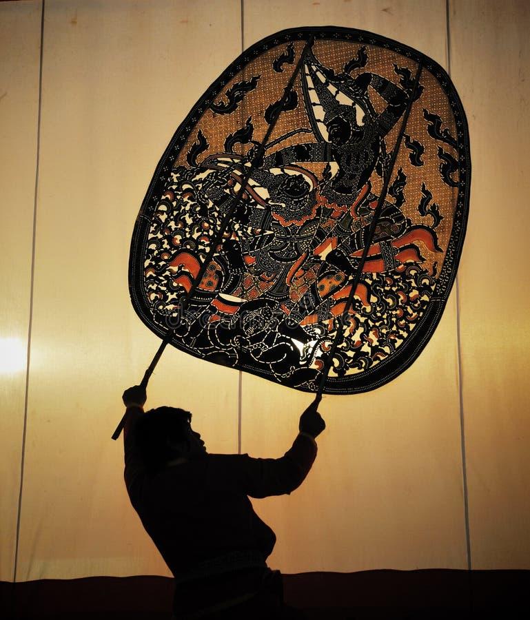 Exposition de marionnette thaïe images stock