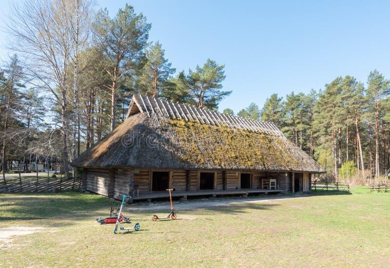 Exposition de musée d'air ouvert de l'Estonie photo stock