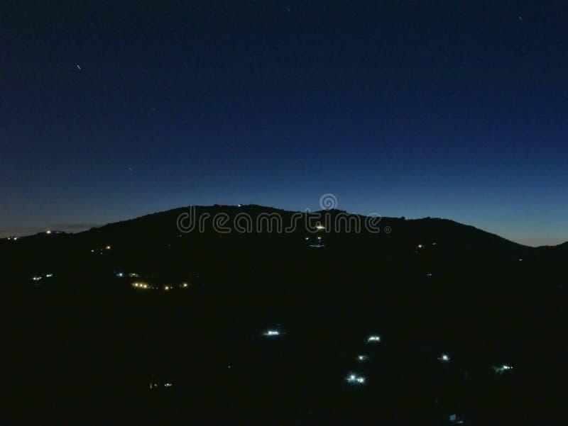 Exposition de photographie de nuit longue image stock
