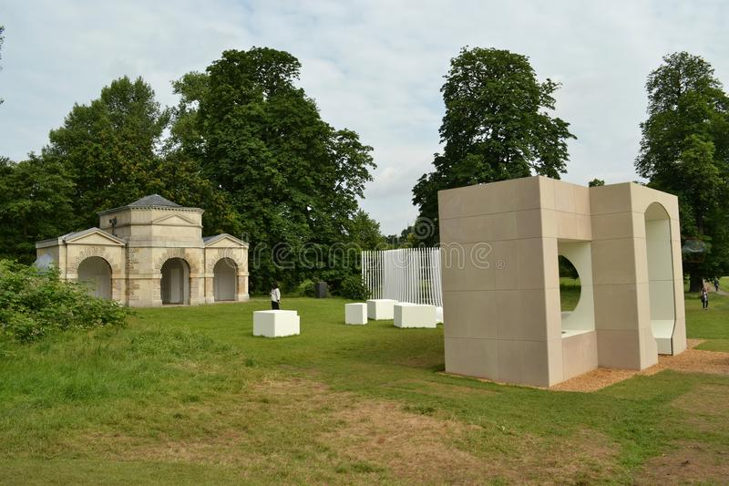 Exposition de Serpentine Pavilion Summer Houses photographie stock