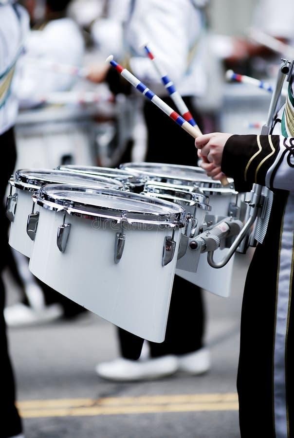 Exposition de tambour sur la 4ème du défilé de juillet images stock