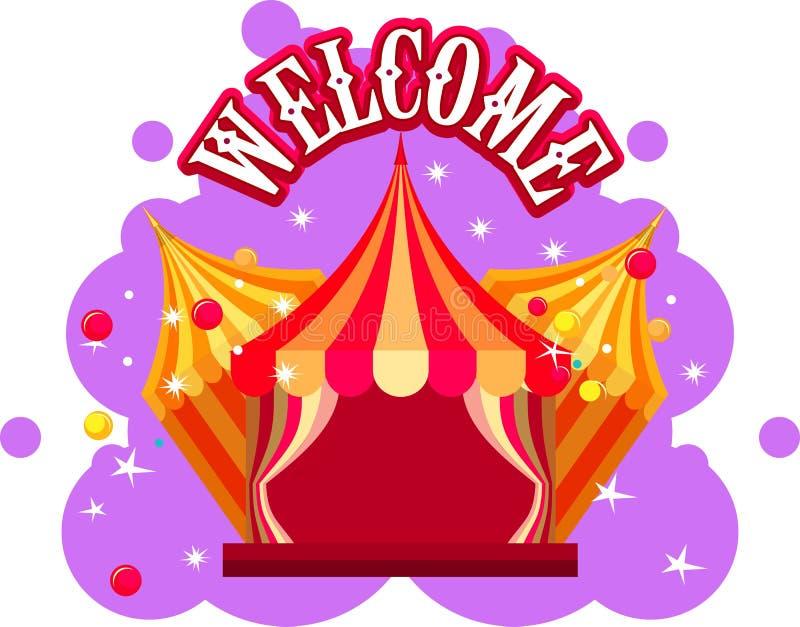 Exposition de tente de cirque illustration stock