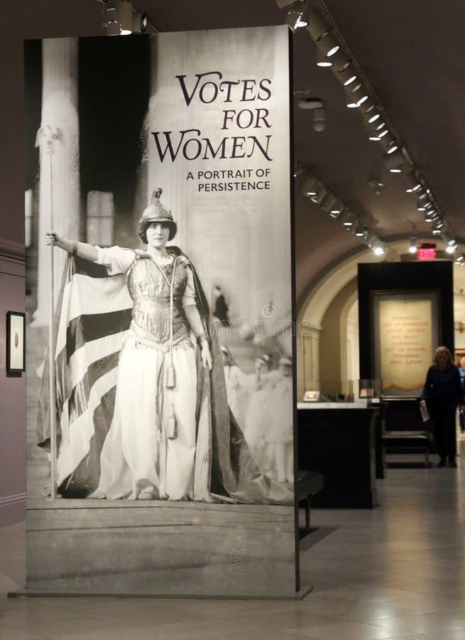 Exposition De Votes Pour Les Femmes À La National Portrait Gallery photo libre de droits
