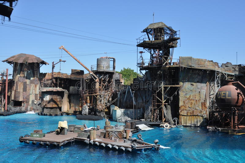 Exposition de Waterworld aux studios universels Holliwood images libres de droits