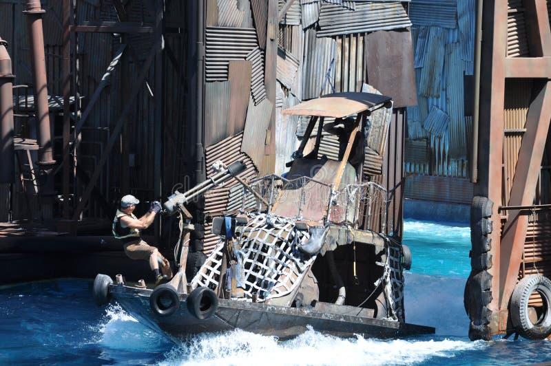 Exposition de Waterworld aux studios universels Holliwood photo libre de droits