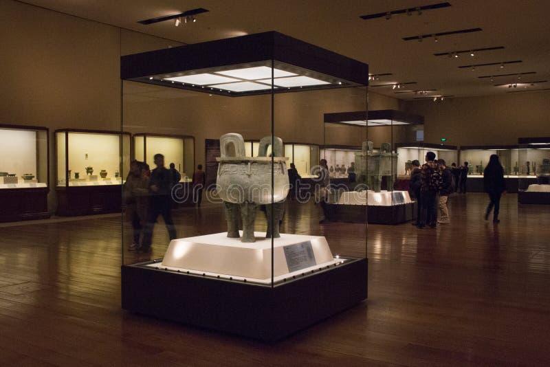 Exposition en bronze au Musée National de la Chine images libres de droits