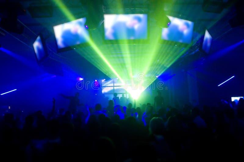 Exposition et musique de laser photo libre de droits