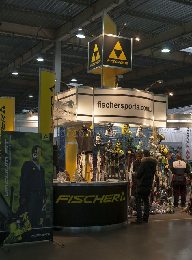 Exposition extrême de sport d'hiver à Kiev images stock