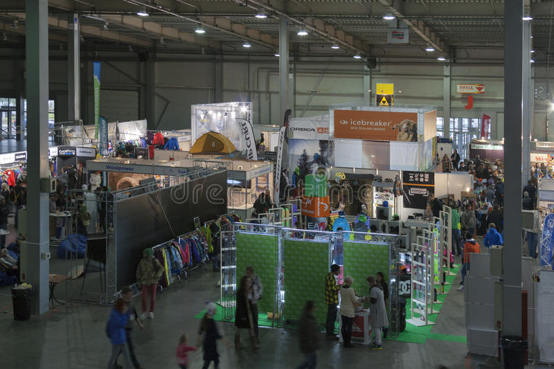 Exposition extrême de sport d'hiver à Kiev images libres de droits