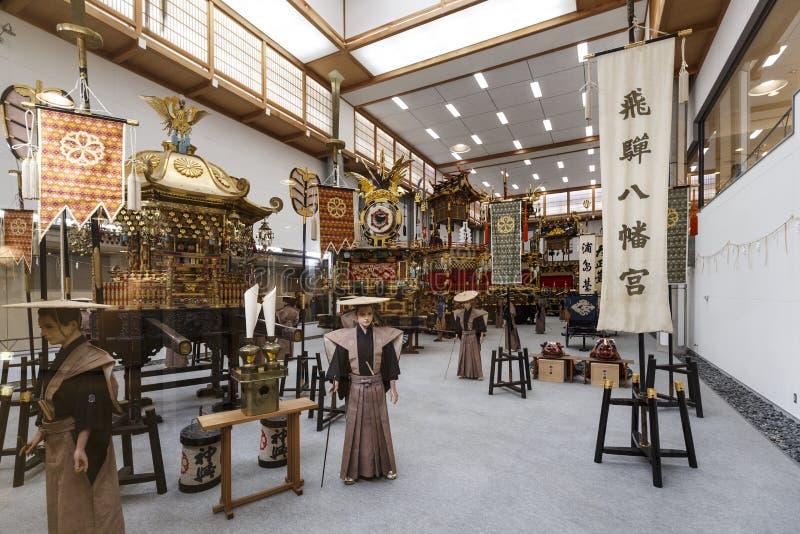 Exposition hall de flotteur de festival de Takayama images libres de droits