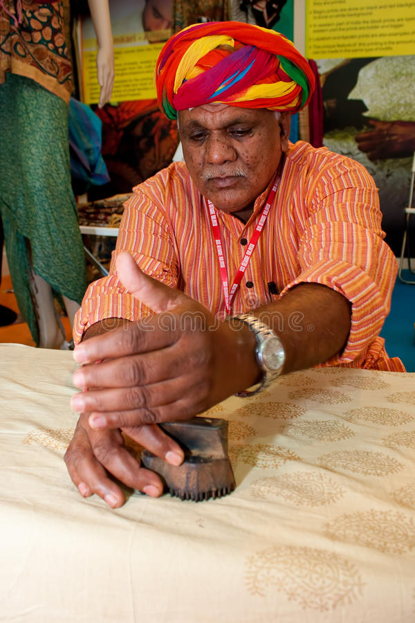 Exposition indienne de textiles image libre de droits