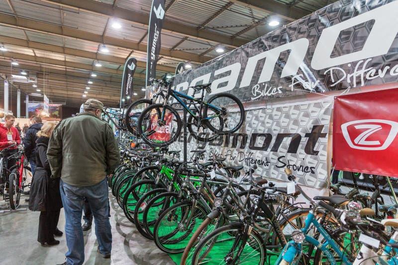 Exposition internationale de bicyclette VELOBIKE 2016 à Kiev, Ukraine image libre de droits