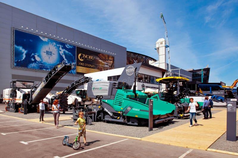 Exposition internationale de matériel de construction et de Technolog images libres de droits