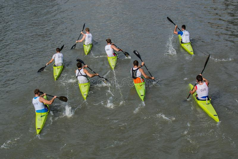 Exposition kayaking merveilleuse photos stock