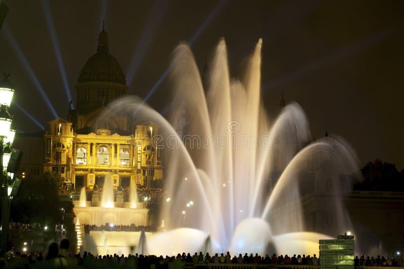 Exposition magique 1 de fontaine image libre de droits