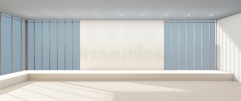Exposition moderne minimale de galerie d'arts et de vitrail illustration de vecteur