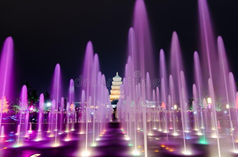 Exposition musicale de fontaine dans Xian photo libre de droits