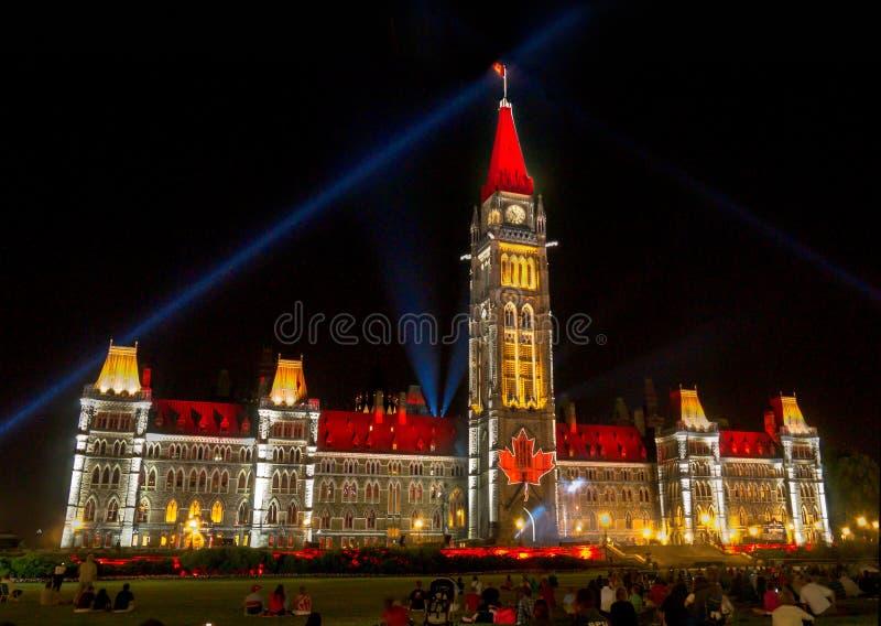 Exposition Ottawa de lumière de Mosaika photographie stock