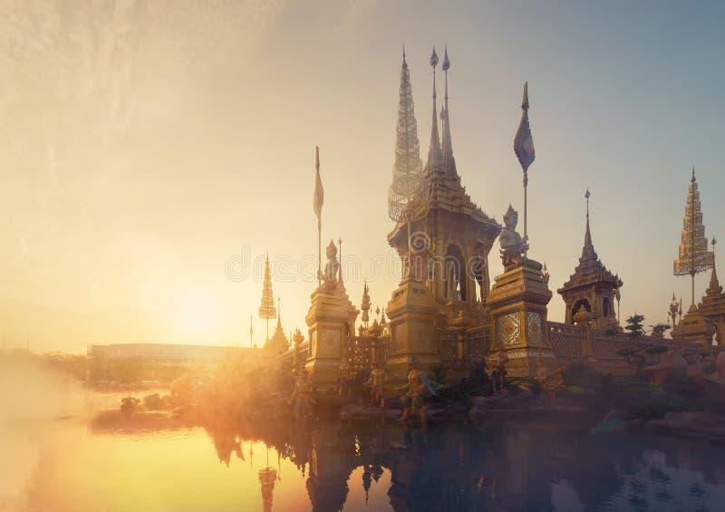 Exposition royale d'incinération du Roi Bhumibol Adulyade de Sa Majesté photographie stock libre de droits