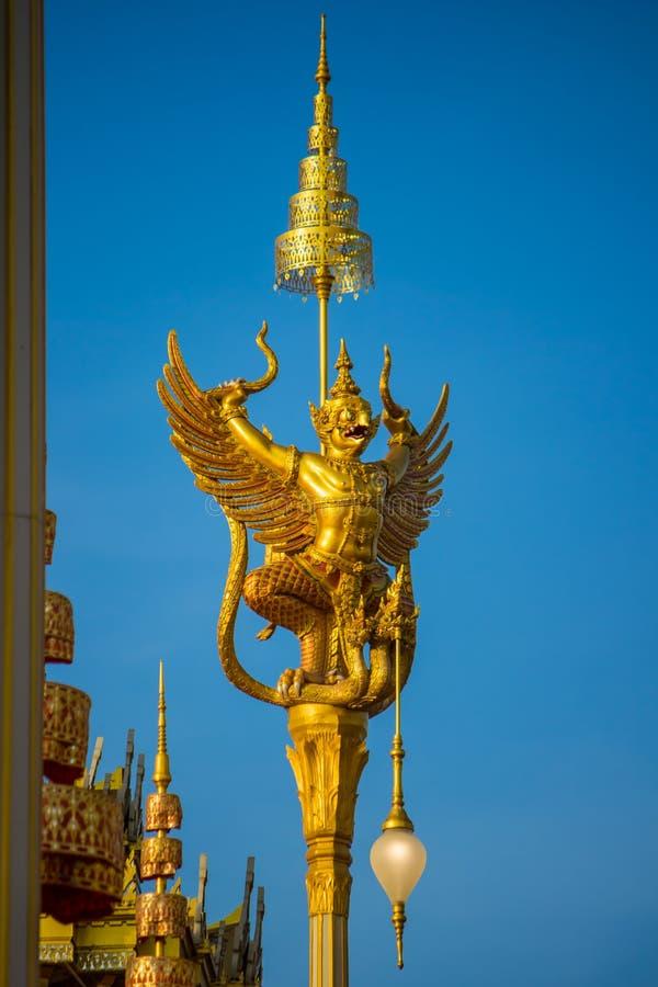 Exposition sur la cérémonie royale d'incinération, au sol cérémonieux de Sanam Luang, Bangkok, Thaïlande sur November25,2017 : Sc image stock