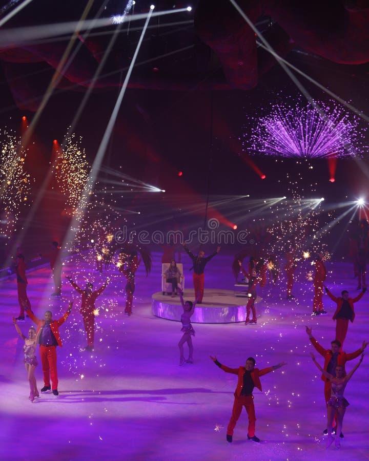 Exposition - vacances sur la glace images libres de droits