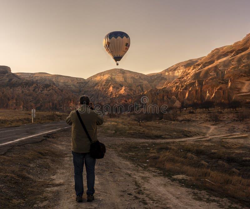 Exposition visuelle de ballon de Cappadocia image stock