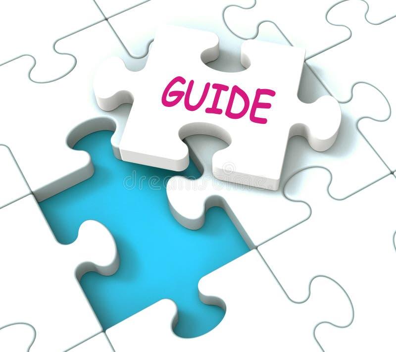 Expositions de puzzle de guide consultant la directive et le guidage de conseils illustration libre de droits