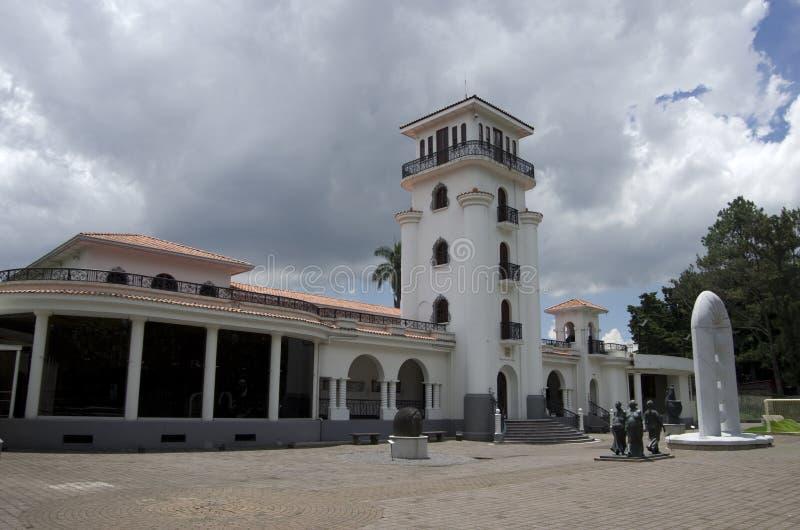 Expositions extérieures d'Art Museum de Costarican photos libres de droits