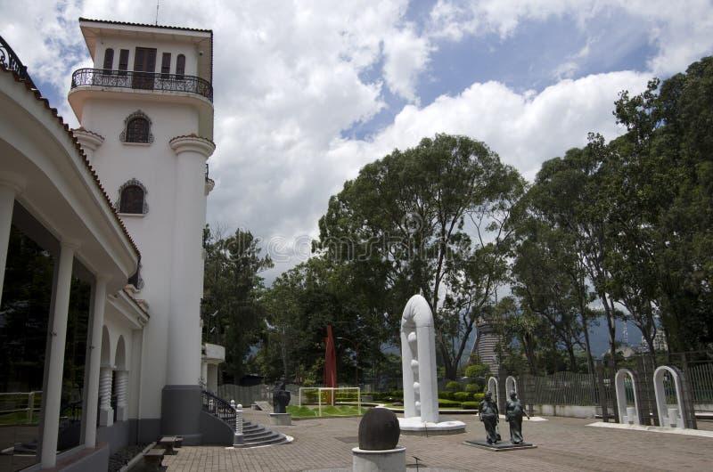 Expositions extérieures d'Art Museum de Costarican photo stock