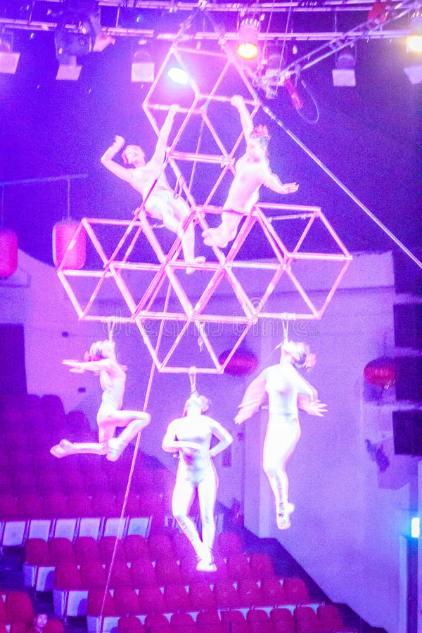 Expositions gymnastiques du monde de cirque de Jeju photos stock