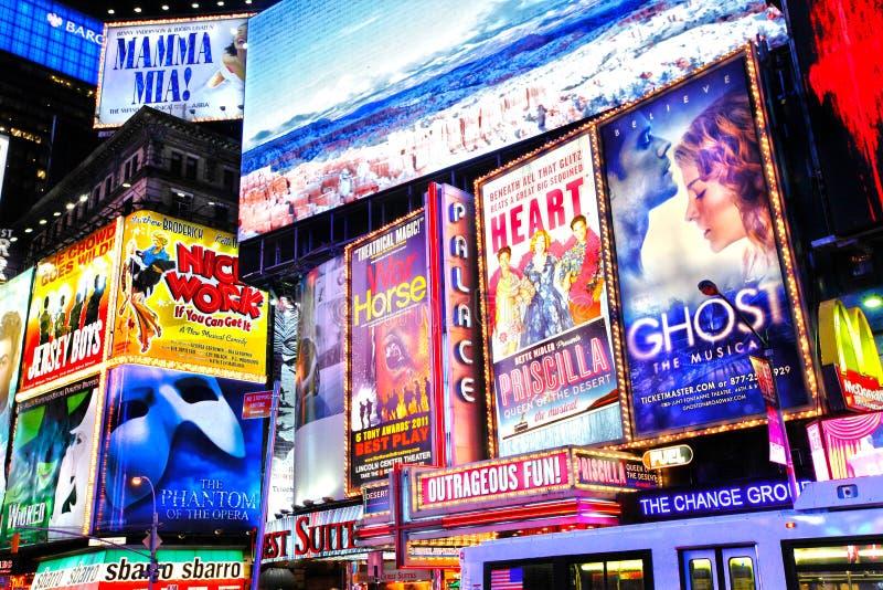 Expositions New York de Broadway photographie stock