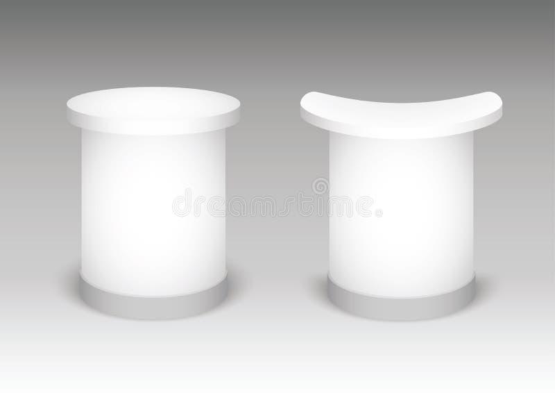 Expoställning på en vit bakgrund Åtlöje upp mallen för din design också vektor för coreldrawillustration stock illustrationer