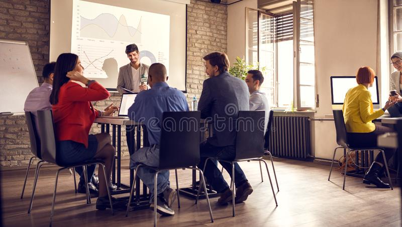 Exposure of successful entrepreneur`s stock image