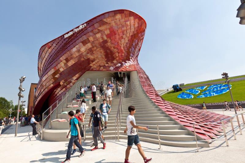 Expovankepaviljong royaltyfria bilder