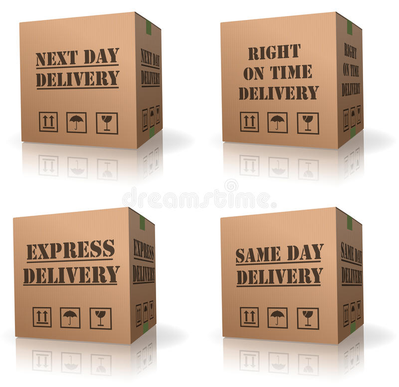 Free Expres Delivery Shipment Cardboard Box Shipping Stock Photo - 16544510