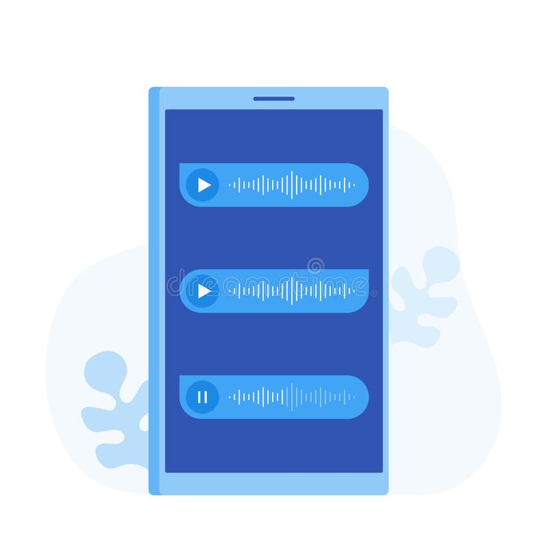 Exprese el icono en el teléfono de pantalla, notificación de eventos de los mensajes Ejemplo plano moderno del vector del estilo stock de ilustración