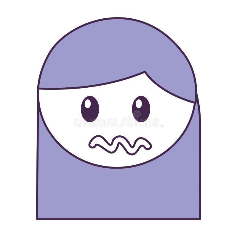 Expresión enojada de la muchacha principal libre illustration