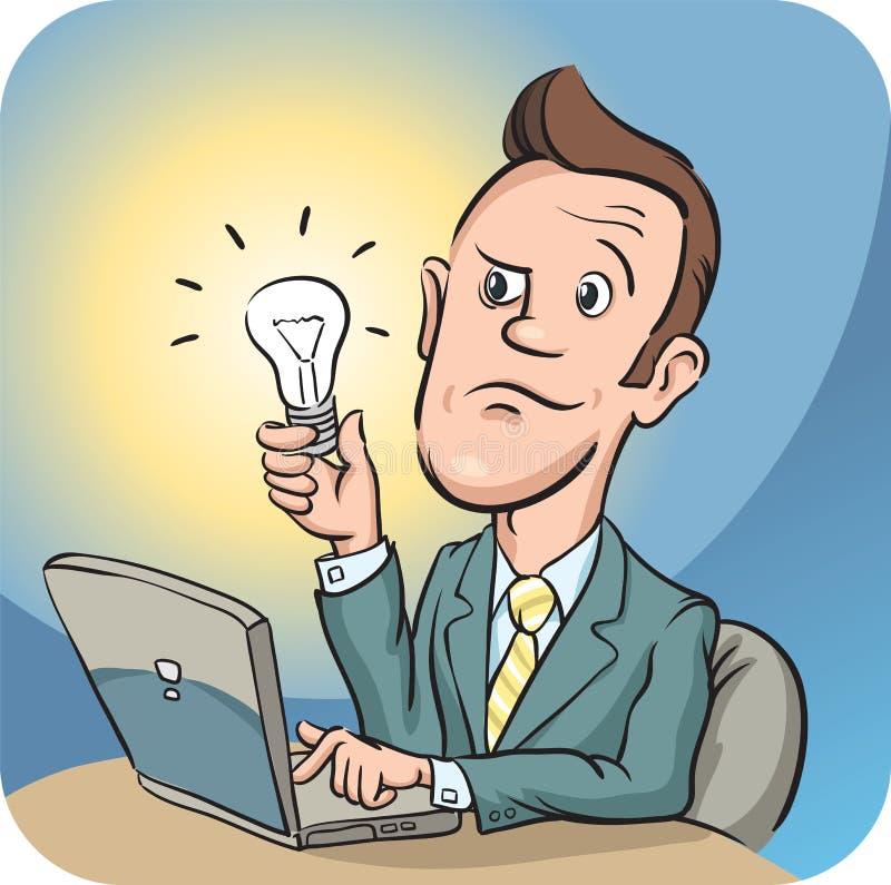 Expresión facial confusa del hombre de negocios ilustración del vector