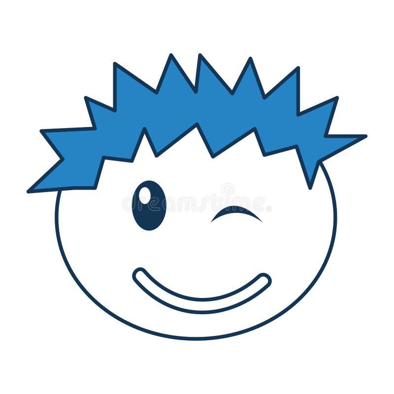Expresión feliz del muchacho principal libre illustration