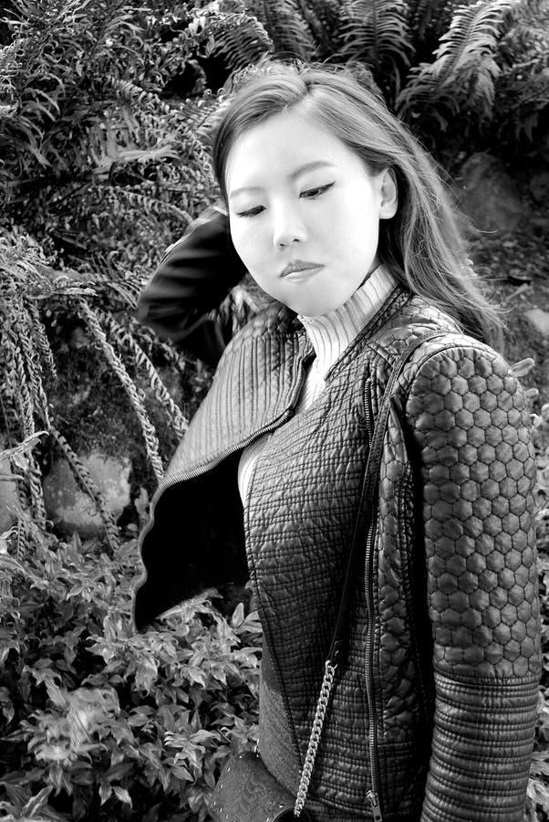 Expresiones femeninas asiáticas de la belleza foto de archivo libre de regalías