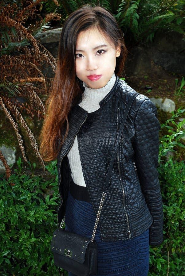 Expresiones femeninas asiáticas de la belleza fotos de archivo libres de regalías