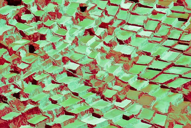 Expresionismo 01 salinos abstractos, arte de Digitaces de Afonso Farias stock de ilustración