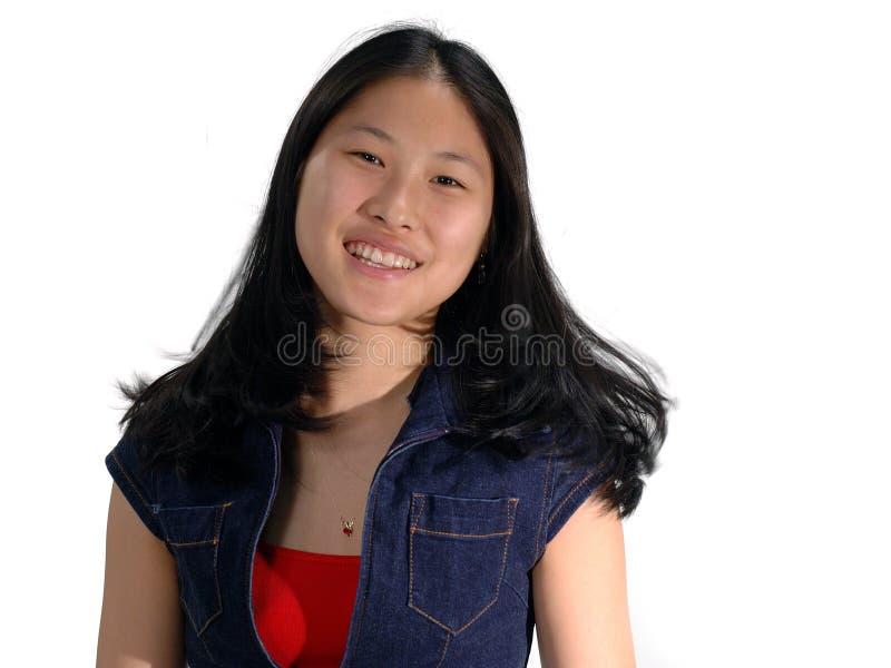 Expresions lächelndes Mädchen stockfotos