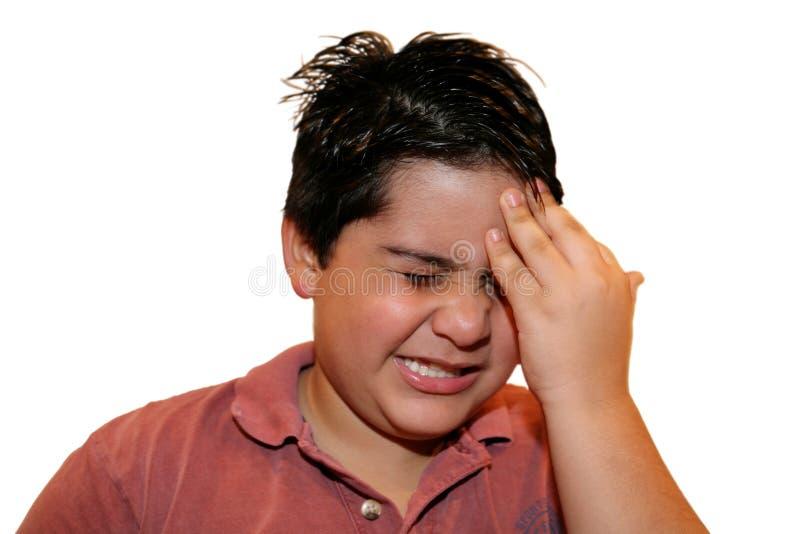 Expressão 2 da dor fotografia de stock