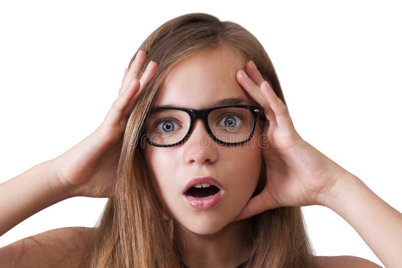Expressão da menina imagem de stock