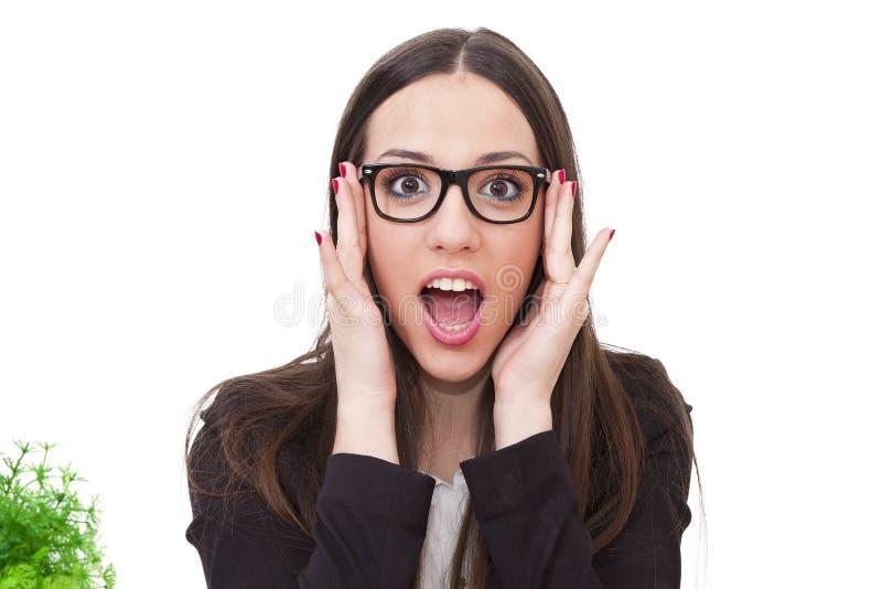 Expressão da surpresa foto de stock