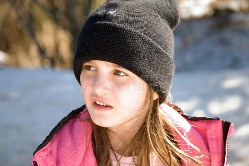 Expressão de uma criança fotografia de stock