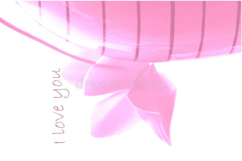 Expressão do amor - cor-de-rosa borrada ilustração royalty free